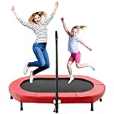 Eloklem Trampolin Mini Faltbar Trampolin 143 x 91cm Jumping Fitness für Kinder und Erwachsene...