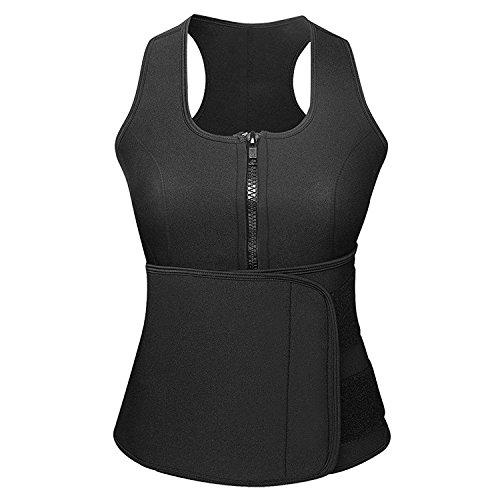 Odoland Women Sauna Suit, Best Neoprene Waist Trainer Body Shaper Sauna Vest with Hot Sweat Belt for Weight Loss, Versatile for Cycling, Gymnastics & Other Bodybuilding Exercises