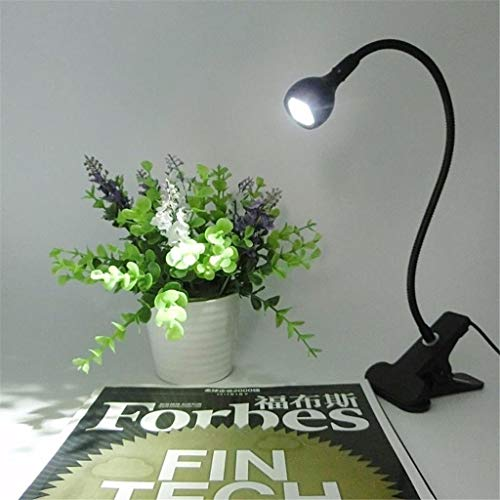 nakw88 Lámpara de Mesa Lámpara Lámpara de Escritorio LED con Clip 1w Lámpara LED Flexible Lámpara de Lectura USB Lámpara de Libro de Lectura LED, 1