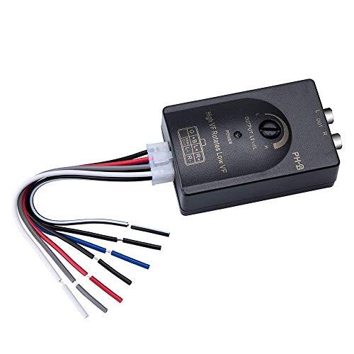Mr.Ho High Low Adapter Signalwandler für Autoradio Konvertiert Lautsprecher High-Low-Level-Converter Hochpegel-Signale in das Cinch-Format