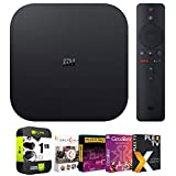 Xiaomi Mi Box S 4K HDR Android TV with Google Assistant Remote Streaming Media Player Bundle with Tech Smart USA Premiere Movies Streaming 2020 Digital Download + 1 Year Extended Protection Plan