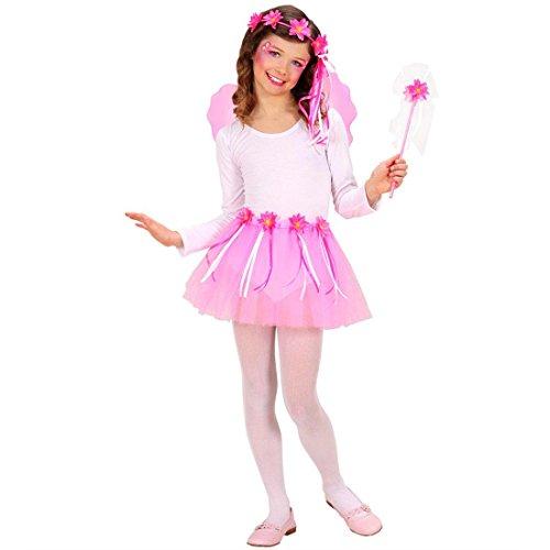 NET TOYS Blumenfee Kinderkostüm Fee Kostüm Set Blume Feenkostüm Kleine Elfe Mädchenkostüm Märchen Ballerina Tütü Pixi Dress up