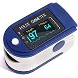 Meya Happy Fingertip Pulse Oximeter For Doctor's | Accurately and Quickly Measures Your Blood Oxygen SpO2 Heart Rate | OLED Large Display Screen (Assembled in India) ( AAA Pencil Cell Batteries Not Included For Transport Safety )