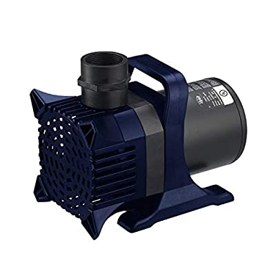 Alpine Corporation Pond Outdoor Decor Accessory-for Fountains, Waterfalls, and Water Circulation Alpine PAL6550 6550 GPH Cyclone Pump, 33', Black and Blue