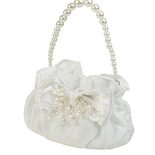 Lito Angels meisjes handtas handtas tas portemonnee bruiloft bloem meisje gelegenheid satijnen parels