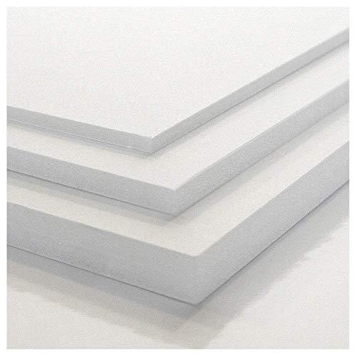 Tres Unidades Cartón Pluma Precision Blanco (3-5 y 10 mm) -Diferentes Medidas (3 mm (A4 21 x 29.7 cm))