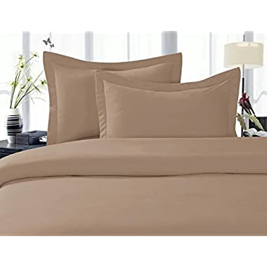 Elegant Comfort 1500 Thread Count Wrinkle,Fade and Stain Resistant 4-Piece Bed Sheet set, Deep Pocket, HypoAllergenic - Queen Taupe