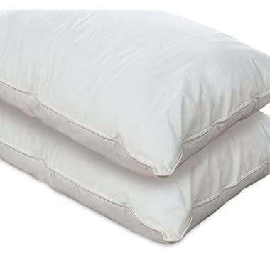 European Comfort 100% Hypoallergenic Slumber Down Alternative Pillows, KING (Set of 2)