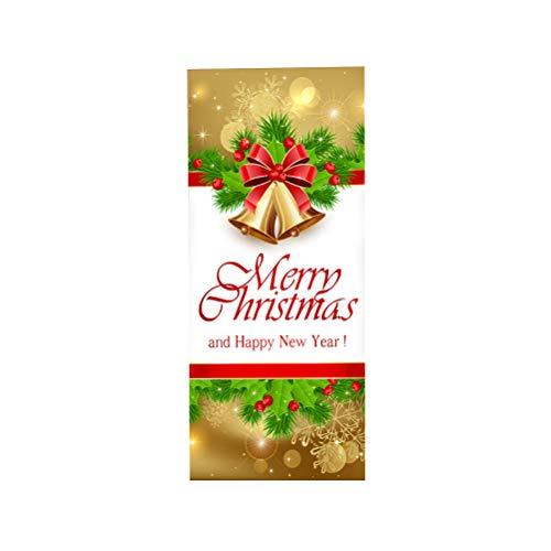 LIOOBO 3D Weihnachten Tür Renovierung Aufkleber Abnehmbare wasserdichte Tür Aufkleber Verdickung PVC Tür Dekor Aufkleber Weihnachtsdekor