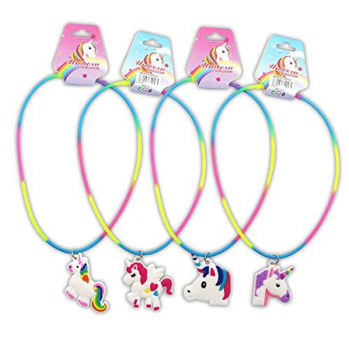 Collar Unicornio Infantil - Collares, Collar para niñas Original, Regalos y Detalles para Fiestas de Cumpleaños, Comuniones y Bodas