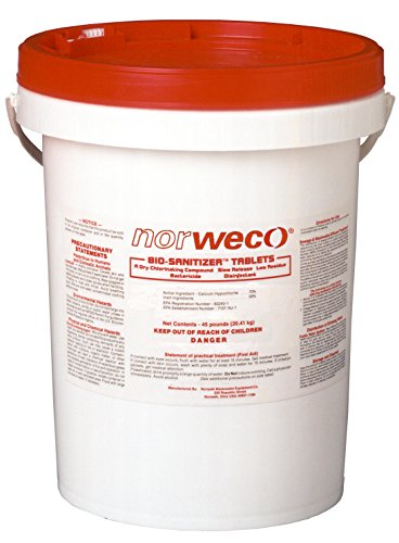 Norweco Bio-sanitizer Septic Chlorine Tablets - 45lb - 70% Minimum Available Chlorine