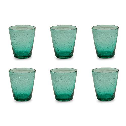 Villa d'Este Home Tivoli Cancun Set 6 Bicchieri Tiffany, 9x9x10 cm, 6 unità