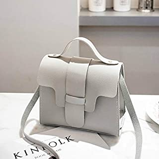 YKDY Shoulder Bag Casual Leather Crossbody Bags for Women PU Leather Handbags Tote Shoulder Bags Messenger(Red) (Color : Gray)