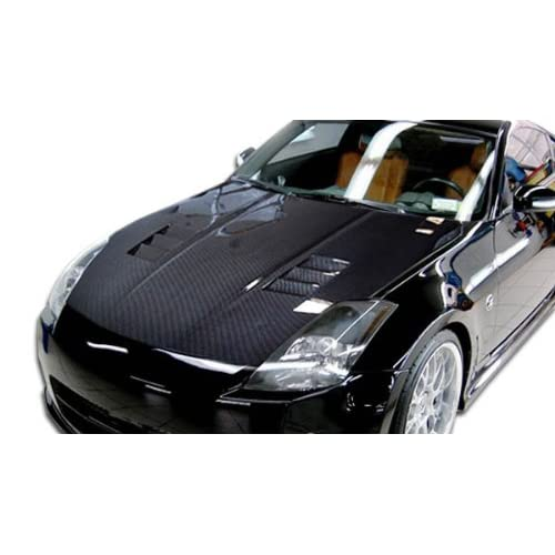 Carbon Creations Replacement for 2003-2006 Nissan 350Z Z33 JGTC Hood - 1 Piece