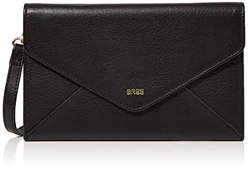 BREE Damen Vivid 146, Travel Wallet W19 Geldbörse, Schwarz (Black), 1x11.5x20 cm