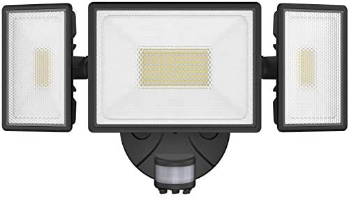 Onforu 80W LED Security Lights with Motion Sensor 7200lm Outdoor Indoor Flood Light with 3 Head product image