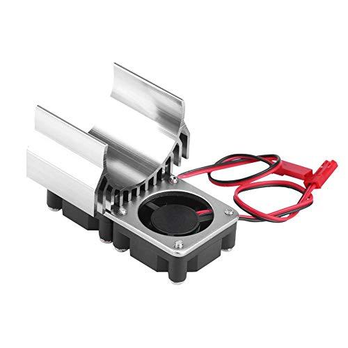 Radiatore Motore RC, Motore 540 550 Dissipatore di Calore per ventole gemelle per Auto RC elettrica in Scala 1 10(Argento)