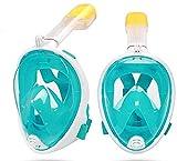 Gafas de Buceo Máscara de Buceo Mascarilla de Buceo 180 ° Máscara de Snorkel de Secado Completo Adulto Masco de Buceo a Prueba de restos Impermeables para el Snorkeling LQHZWYC