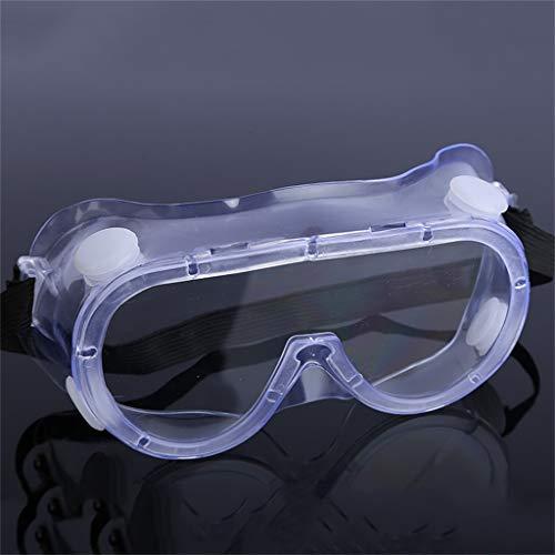 5pcs PC vier bead bril veiligheidsbril, transparant laboratorium splash-proof stofdichte glazen, multifunctionele gesloten veiligheidsbril