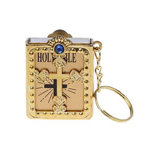 yhdcc44 Mini-Schlüsselanhänger mit englischem Jesus-Kreuz, religiöses christliches Geschenk.