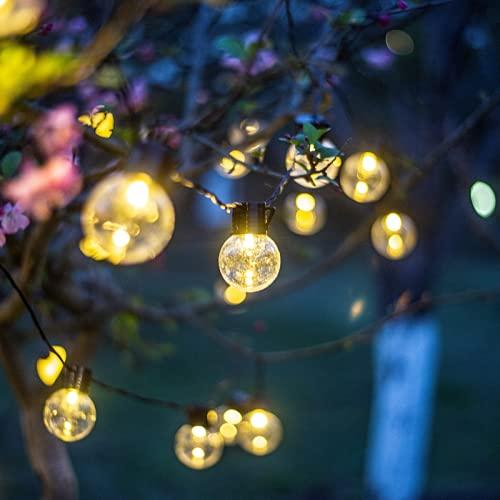 Wandskllss Led luces de jardín al aire libre/interior cadena luces jardín iluminación decorativa impermeable luces árbol de Navidad cadena lucesbatería transparente 3m20 lámpara