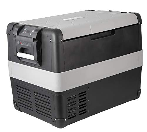 Vitrifrigo VF55P tragbarer Kühlschrank mit Freezer, Serie Vfree, 55 Liter, Farbe Hellgrau/Dunkelgrau, Enegetikklasse A++