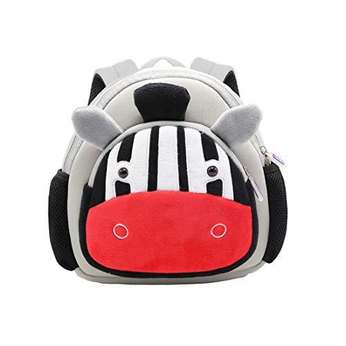 Cool&D Baby rugzak kleuterschool rugzak cartoon patroon schooltas anti-verlies rugzak voor jongens en meisjes 2-5 jaar, zebra (grijs) - CDDE_ETBAG063-Zebra