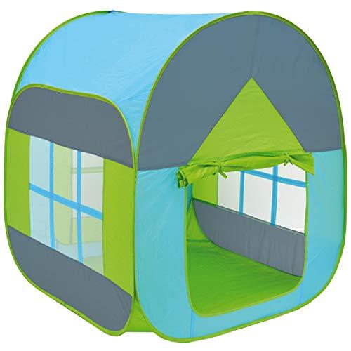 LittleTom Bällebad Spielzelt 90x90x110cm - Popup Baby Spielhaus Kinder-Zelt Blau