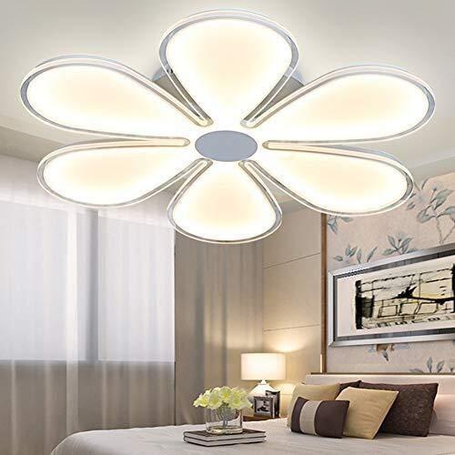 BYDXZ LED Deckenleuchte Schlafzimmerlampe Esszimmerlampe Dimmbar mit Fernbedienung Modern Blütenblatt Design Romantisch Metall Acryl Deckenlampe für Wohnzimmer Bad Flur Prinzessin Mädchen Kinderzimmer