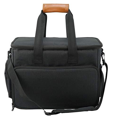 JEELINBORE Tragetaschen für Hund und Katze Tragbar Transporttasche Wasserdicht Reisetasche für Hundezubehör Anti-RutschTragetasche für Welpenfutter - Schwarz, 46 * 23 * 30 cm