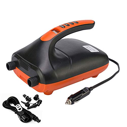 LVYE1 MRMF 12V SUP Max 20 PSI Intelligent Inflatable Pump Electric Ligent Inflatable Air Pump Charge And Discharge LCD Display with Dual Stage for Inflatables Boats,Tent,Paddle