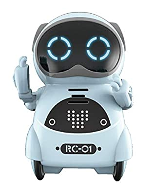SPACE LION Educational Mini Pocket Robot for Kids Interactive Dialogue Conversation,Voice Control, Chat Record, Singing& Dancing