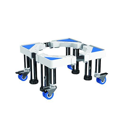 Soporte para lavadora multifuncional, con ruedas y ruedas de 48 a 66 cm de ancho, 40 a 74 cm de largo, bandejas reforzadas para suelo...