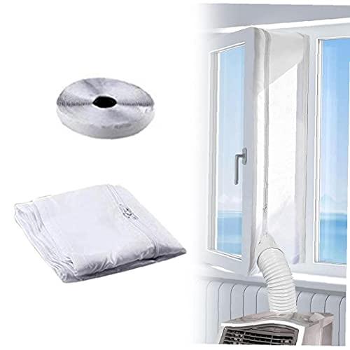 Sanfiyya Air Conditioner Window Seal 300cm Universele Draagbare Air Exchange Guards met ritssluiting