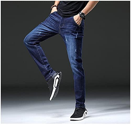 Jeans Mens Jeans Size Pure Grey Color Denim Jeans Straight Pants Stretch Skinny Men Jeans 33 Tl1817Lightblue