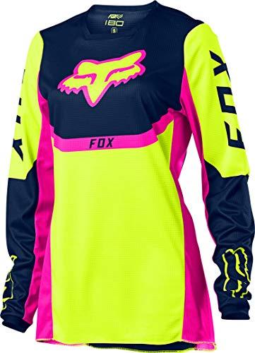 Fox Racing Womens 180 VOKE Jersey, Fluorescent Yellow, Large