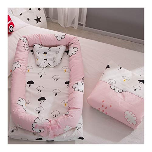 Pillows Multifunctional Baby Nest, Baby Bassinet for Lounger/Pod/Cot Bed/Sleeping, Breathable & Hypoallergenic Cotton (0-24 Months) (Color : Style30)