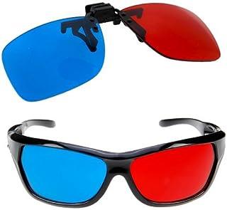 Homiki Conjunto Lentes LED para Miopes Anteojos Recetados de 3D Gafas Glases Anaglifo para Películas Televisión Estilo Cia...