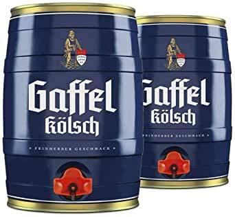 2 Fässer Gaffel Kölsch a 5 Liter (2 x 5) mit eingebautem Zapfhahn
