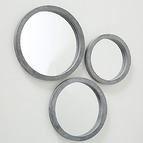 Home Collection Hogar Decoración Accesorios Ornamento Juego de 3 Espejos de Pared Circulares 25-35 cm