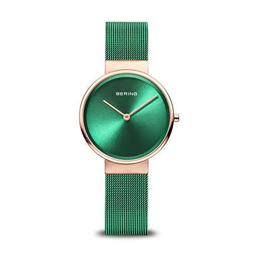 BERING Damen Analog Quarz Classic Collection Armbanduhr mit Edelstahl Armband und Saphirglas 13326-868