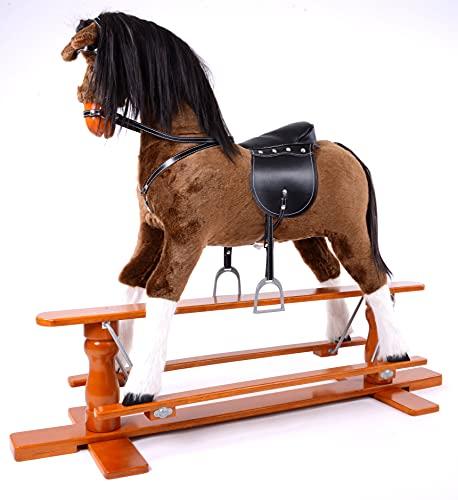 MJmark LUXURIOUS EXTRA LARGE Rocking Horse PRECIOUS SIZE XL age 6 -13 years (Off-White)