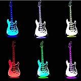 Música Cool Guitar Bass 3D Led Lámpara Luz nocturna para músicos Decoración del hogar Estudiante Cumpleaños Regalo de Navidad Regalo