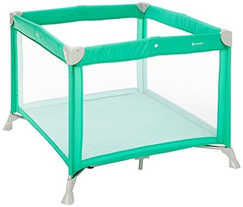 Mon Baby Loopstal, opvouwbaar, te gebruiken als babybed, met matras en transporttas Peacock Green