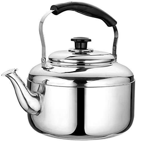 Wddwarmhome 304 acier inoxydable 3L-10L bouilloire à gaz sifflet ménage épaissir haute capacité cuisinière à induction de gaz cuisinière restaurant bouilloire (Size : 10L)
