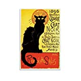 xiaochouyu Animal Art 1896 Poster mit schwarzen Katzen –