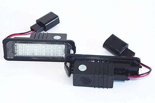 Kfz Dog - LED Kennzeichenbeleuchtung | kompatibel mit Golf 4/ Golf 5/ Golf 6/ Golf 7 - Lupo | Led | Die nachhaltig und qualitiativ hochwertige LED VW Nummernschildbeleuchtung