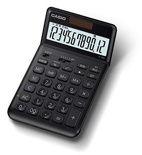 カシオ スタイリッシュ電卓 ブラック 12桁 ジャストタイプ JF-S200-BK-N