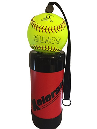 Xelerator 2nd Gen Softball Pitching Trainer w/Leather Ball Red 11quot