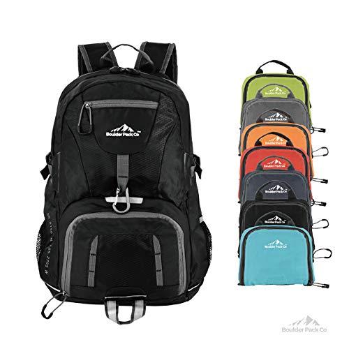 Boulder Pack Co. Lightweight Foldable Travel & Hiking Backpack Daypack Bag - Fits Laptop